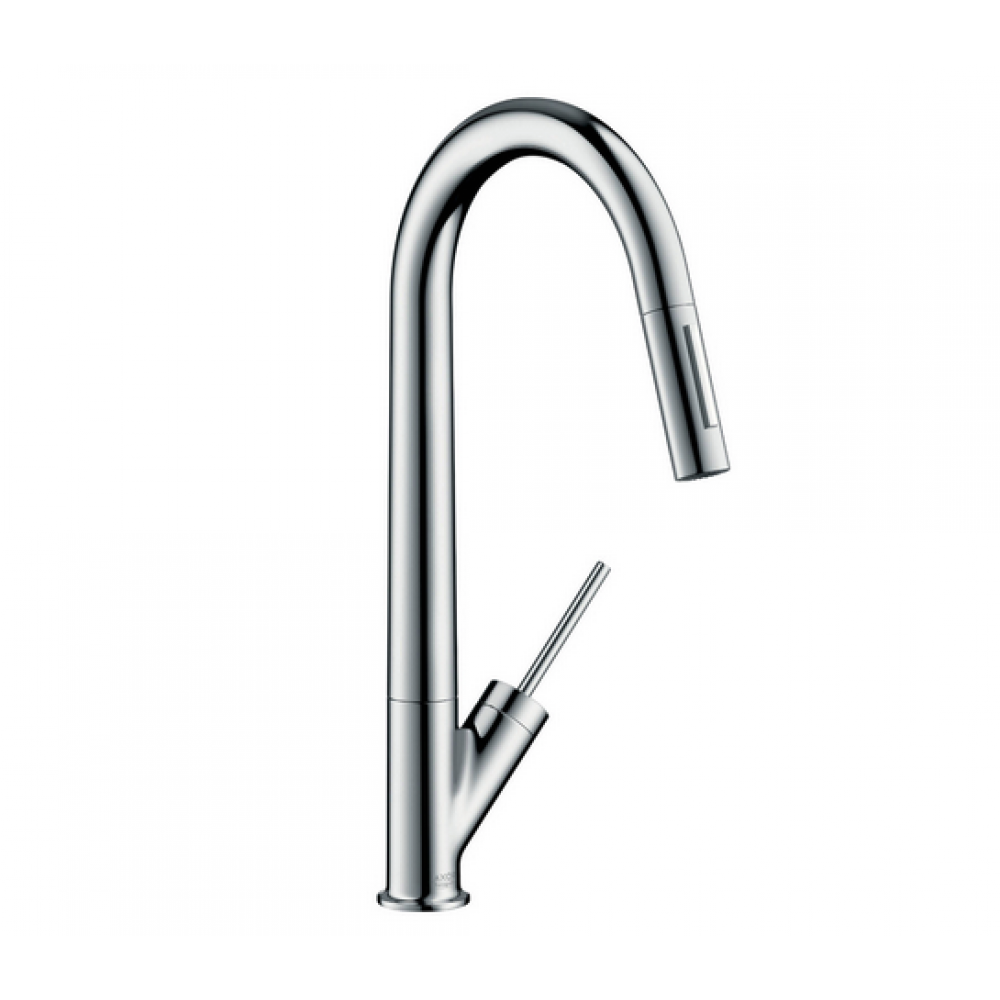 Кухонный смеситель AXOR Starck 270 мм с вытяжным душем Eco  12800000