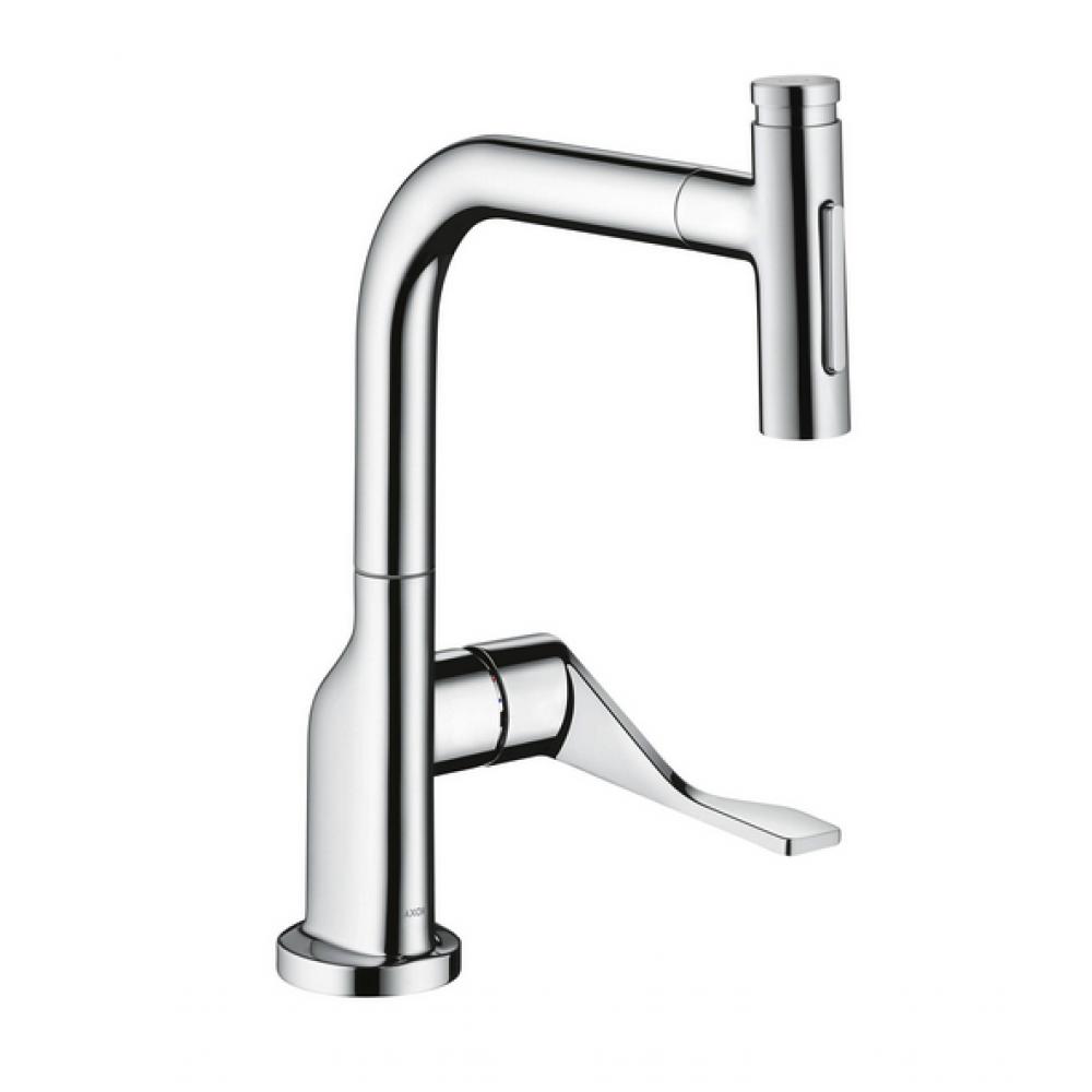 Кухонный смеситель AXOR Citterio Select 230 мм 2jet с вытяжным душем  39862000