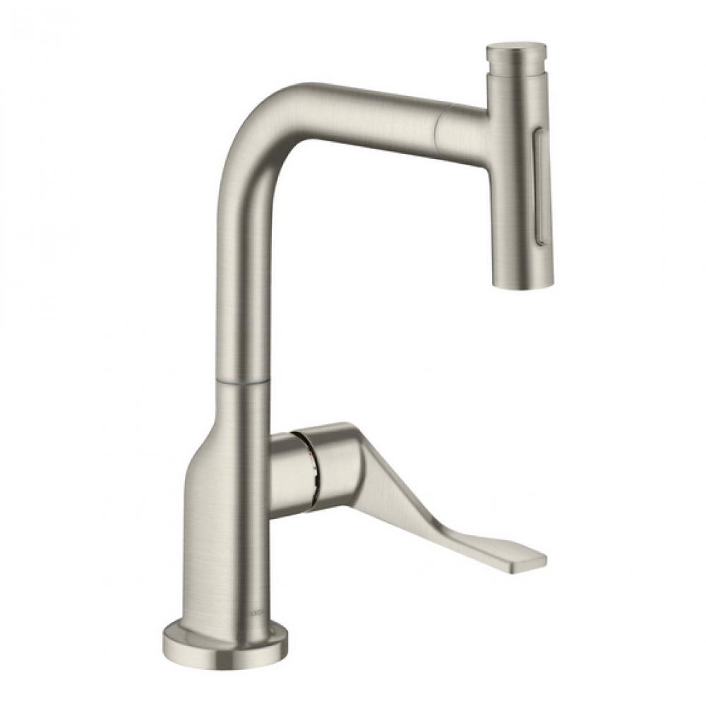 Кухонный смеситель AXOR Citterio Select 230 мм 2jet с вытяжным душем  39862800