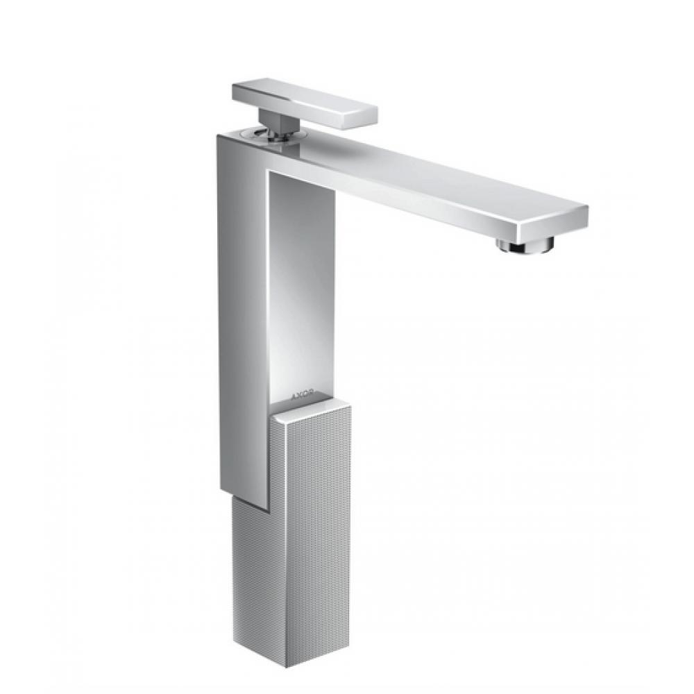 Смеситель для раковины AXOR Edge 280 со сливным клапаном Push-Open с алмазной огранкой  46031000