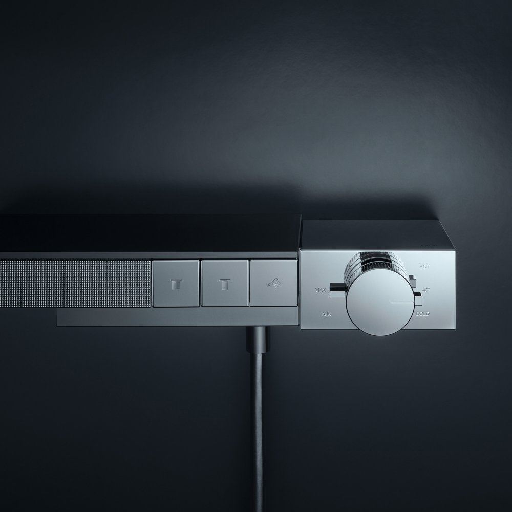 Термостат AXOR Edge для 3 потребителей комбинированного монтажа с алмазной огранкой  46141000