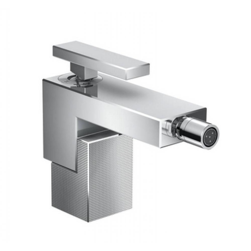 Смеситель для биде AXOR Edge со сливным клапаном Push-Open с алмазной огранкой  46211000