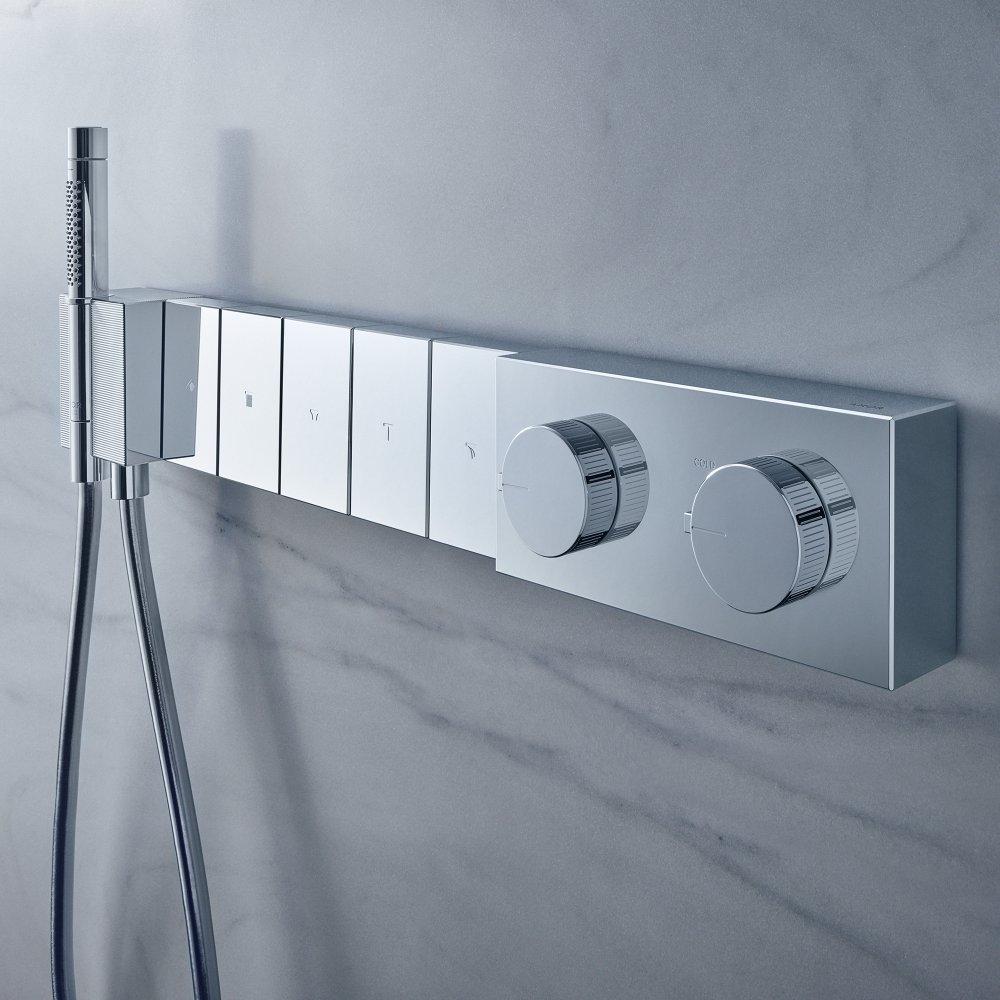 Модуль термостата AXOR Edge 680/100 для 5 потребителей скрытого монтажа с алмазной огранкой  46731000