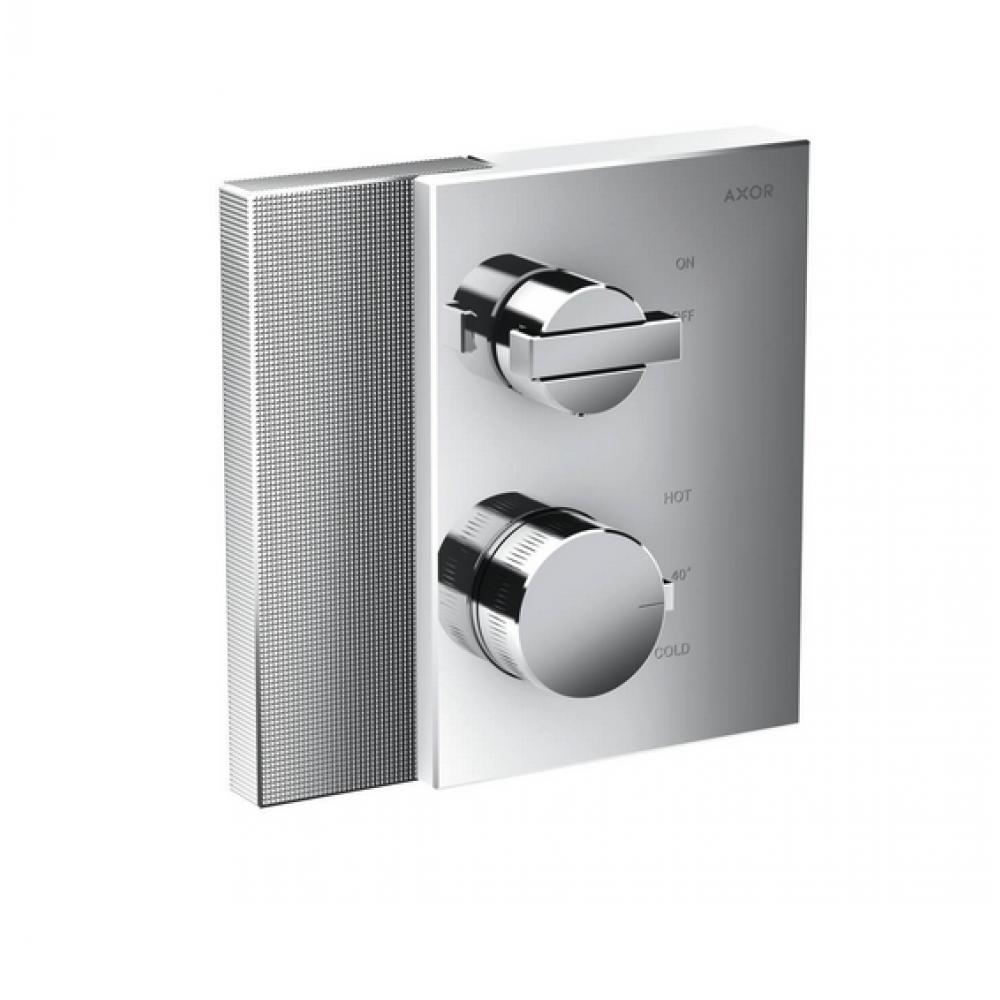 Термостат AXOR Edge с запорным вентилем с алмазной огранкой  46751000