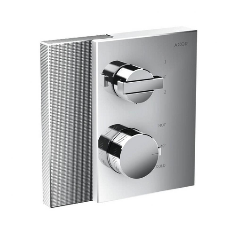 Термостат AXOR Edge с запорным/переключающим вентилем с алмазной огранкой  46761000