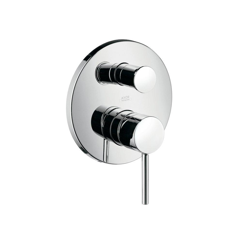 Смеситель для ванны AXOR Starck для скрытого монтажа со встроенной защитной комбинацией и рычагом хром  10418000