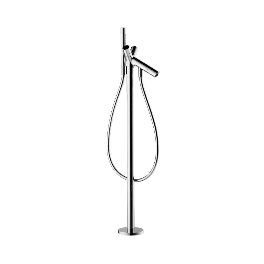 Смеситель для ванны AXOR Starck c двумя рукоятками напольный 1/2  внешняя часть хром  10458000