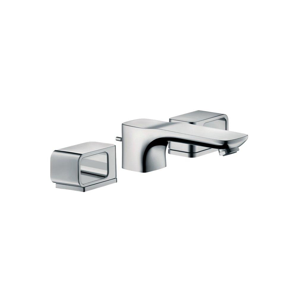 Смеситель AXOR Carlton для раковины с высотой излива 50 мм на 3 отверстия с рычаговыми рукоятками со сливным гарнитуром хром  11041000