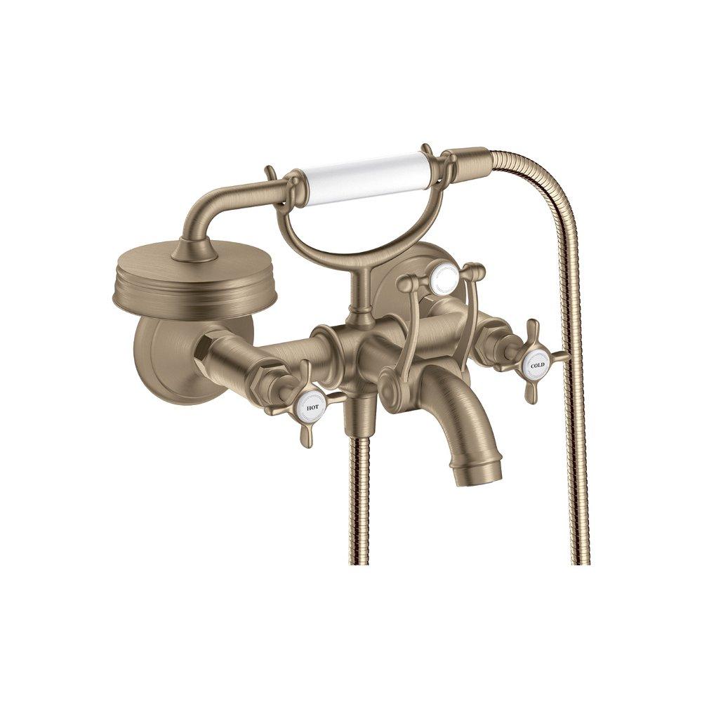 Смеситель для ванны AXOR Montreux с двумя рукоятками 1/2  шлифованный никель  16540820