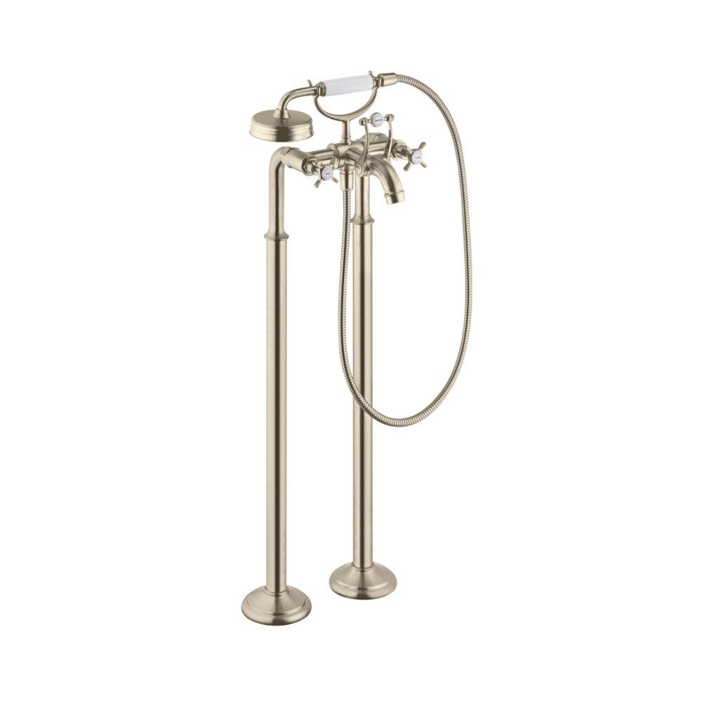 Смеситель для ванны AXOR Montreux с двумя рукоятками напольный 1/2  шлифованный никель  16547820
