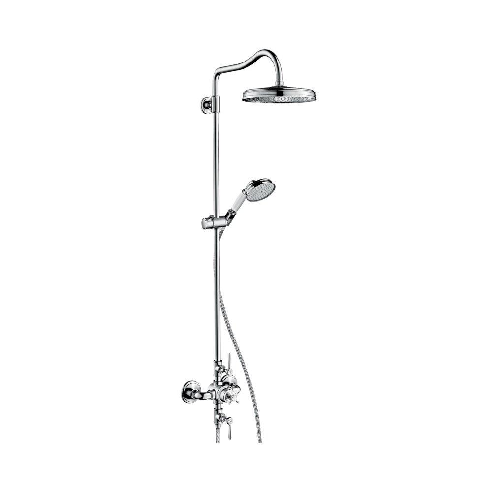 AXOR Montreux Showerpipe с термостатом и верхним душем 1jet шлифованный никель  16572000