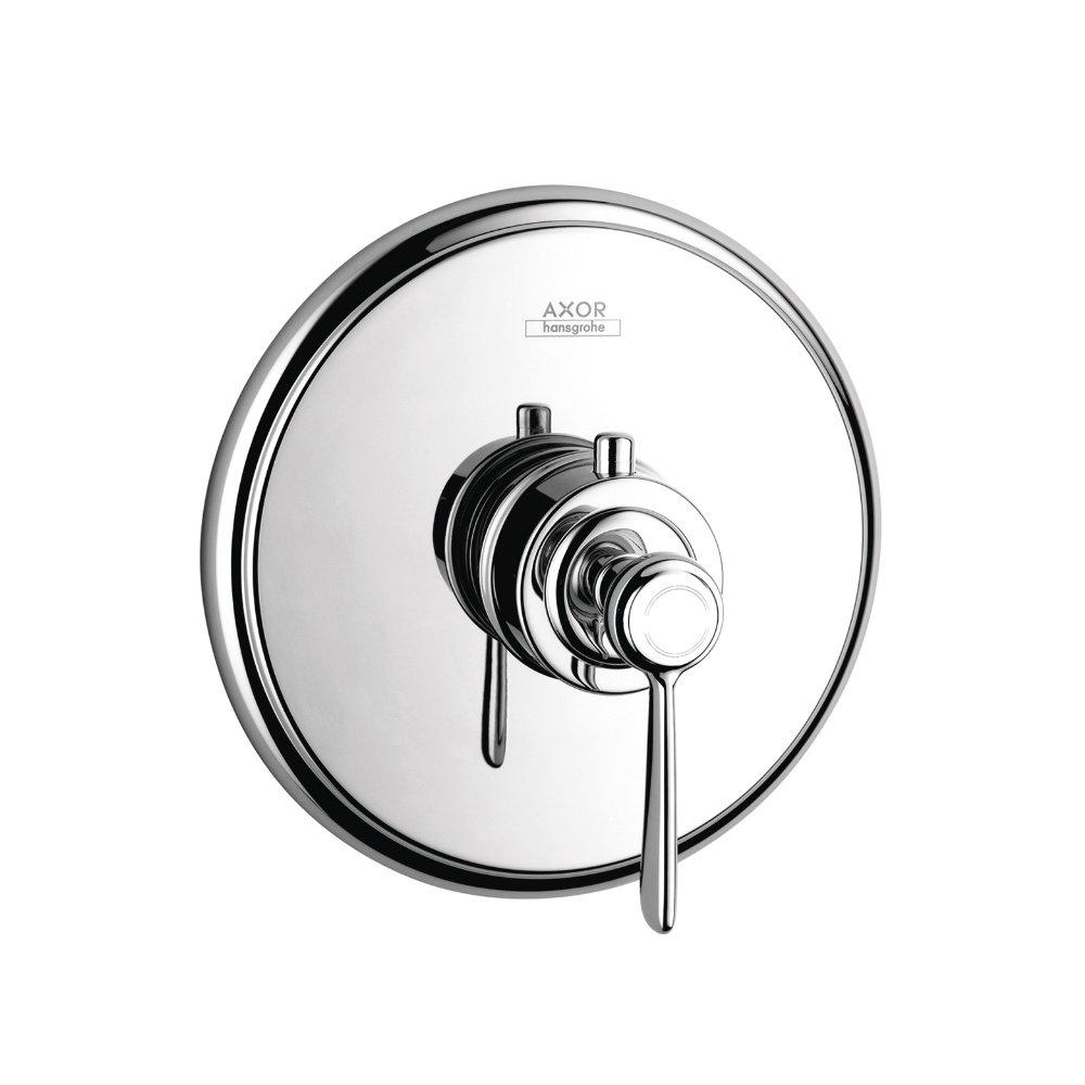 Термостат AXOR Montreux Highflow 59 литров в минуту с рычаговой рукояткой для скрытого монтажа шлифованный никель  16824000