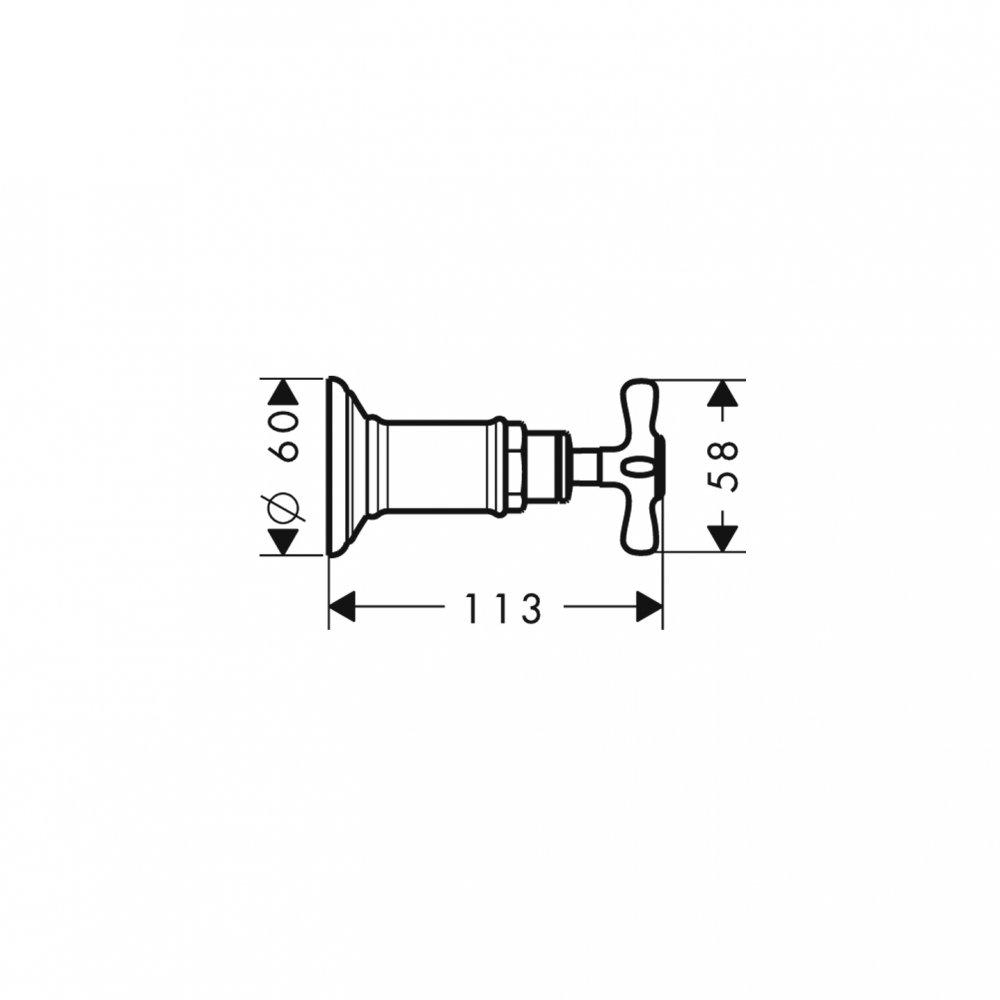 Запорный вентиль AXOR Montreux для скрытого монтажа 1/2  и 3/4  шлифованный никель  16871820