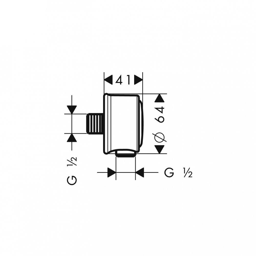 AXOR Montreux Fixfit шланговое подсоединение 1/2  шлифованный никель  16884000