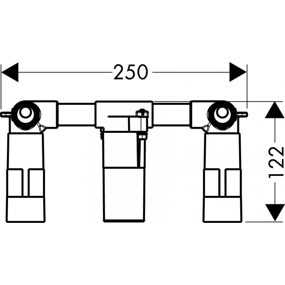 Скрытая часть AXOR Massaud для смесителя для раковины на 3 отверстия для скрытого монтажа  18113180