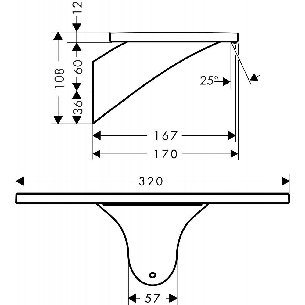 Излив на ванну AXOR Massaud 3/4  хром  18472000