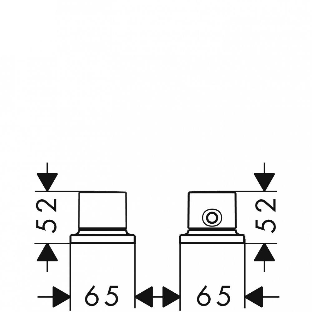Термостат AXOR Uno на край ванны на 2 отверстия 1/2  хром  18480000
