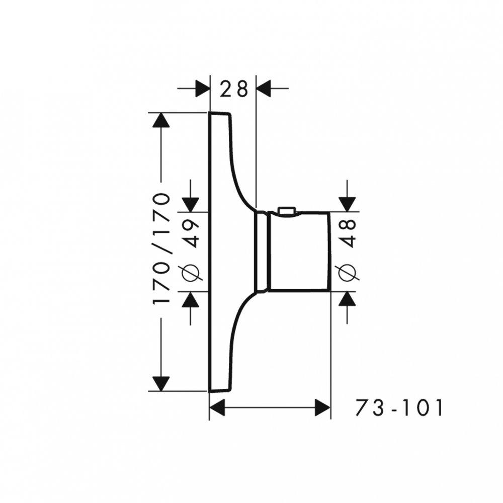 Термостат AXOR Citterio M Highflow для скрытого монтажа хром  18741000