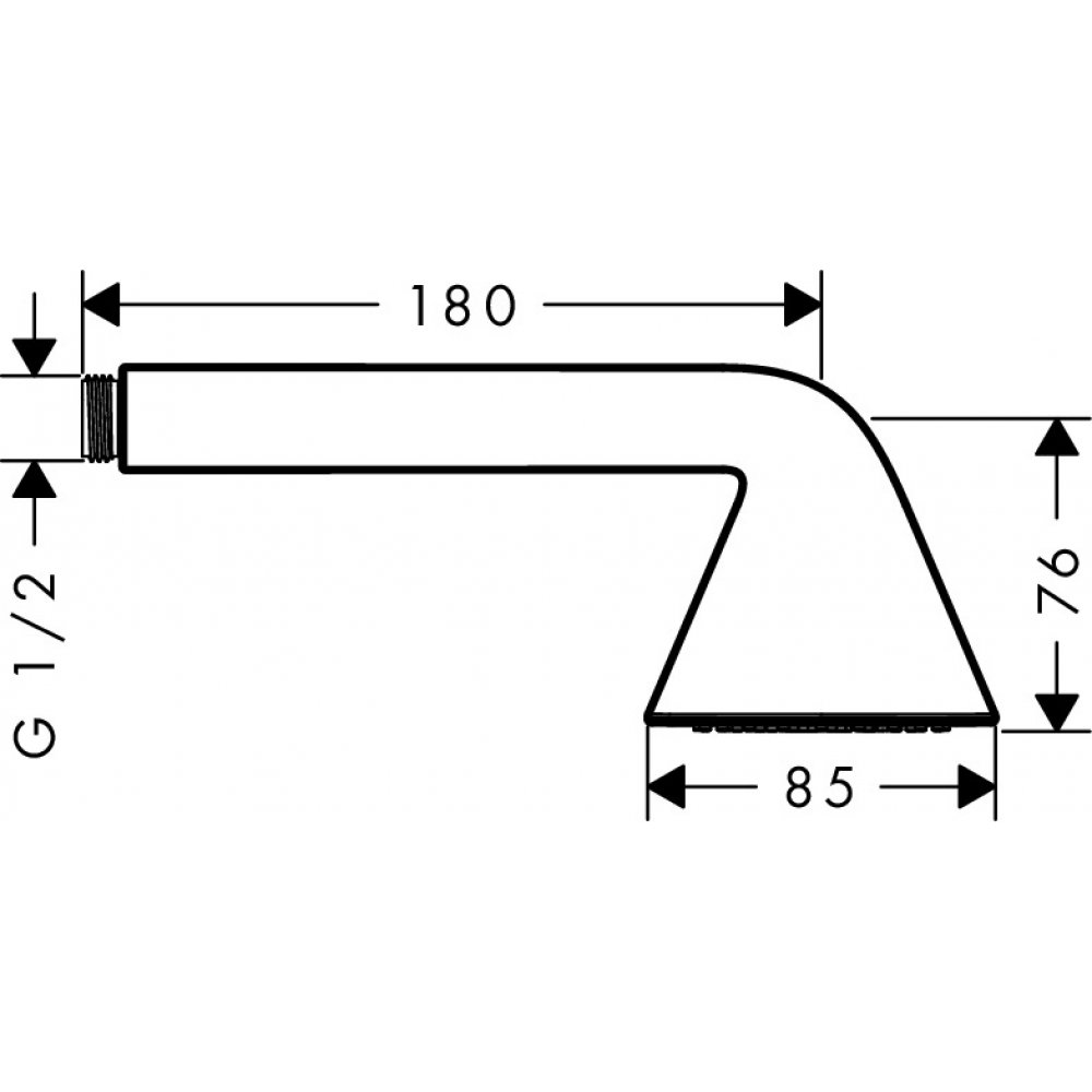 Ручной душ AXOR Showers/Front 1jet дизайн Front хром  26025000