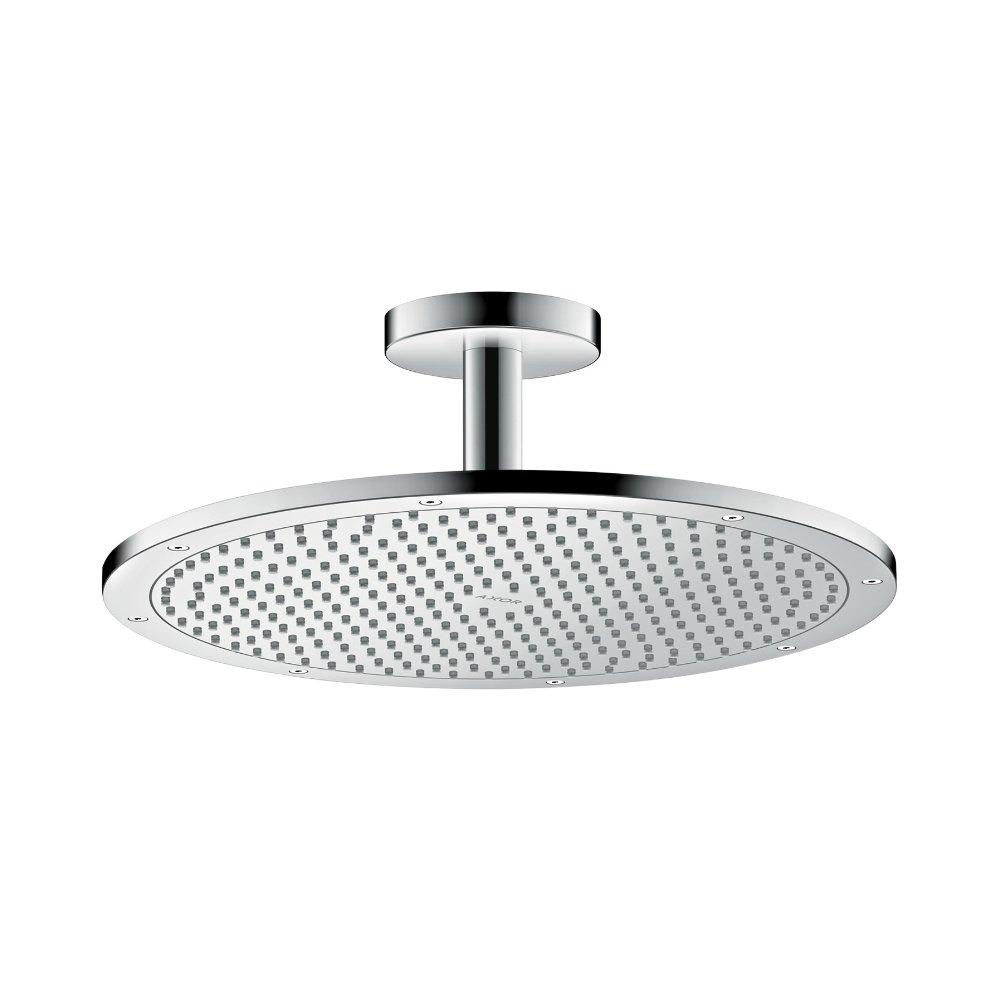 Верхний душ AXOR ShowerSolutions 350 1jet с потолочным подсоединением шлифованный никель  26035820