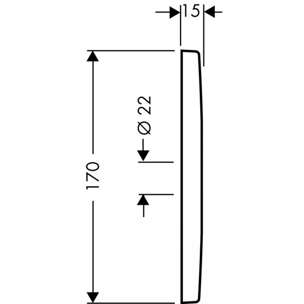 Настенная/потолочная панель для верхнего душа AXOR Citterio хром  27419000