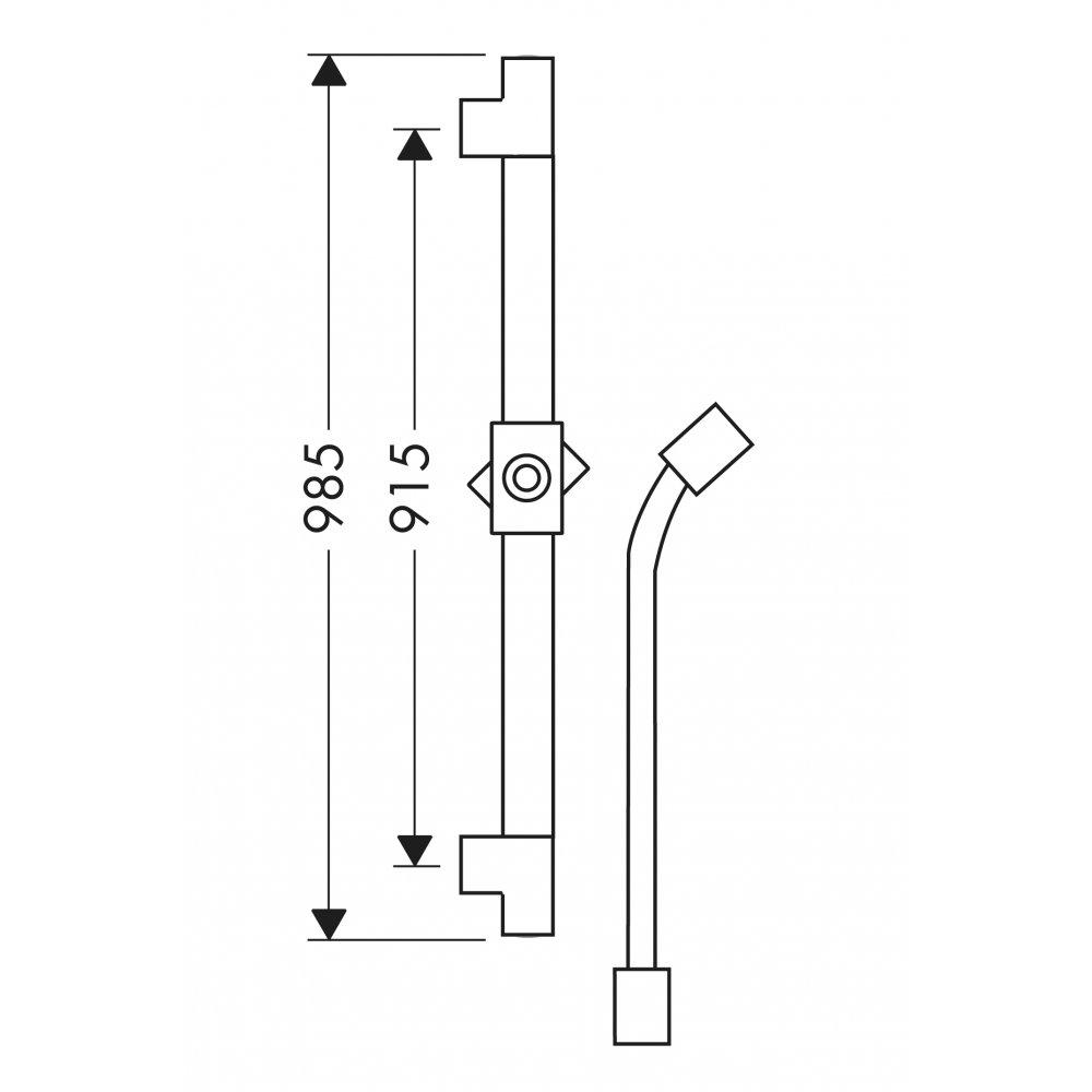 Электронный смеситель AXOR Citterio излив 161 мм настенный с изливом для скрытого монтажа хром  27830000