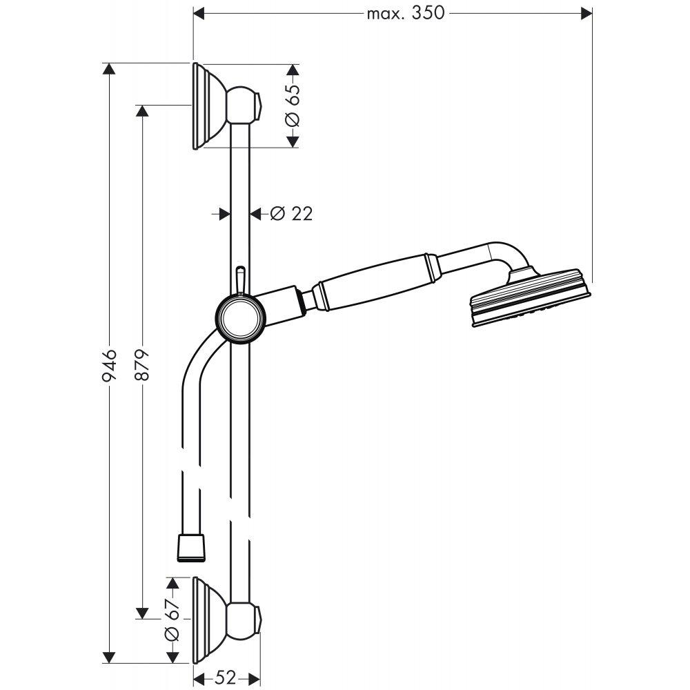 Душевой набор AXOR Carlton 1/2  хром  27947000