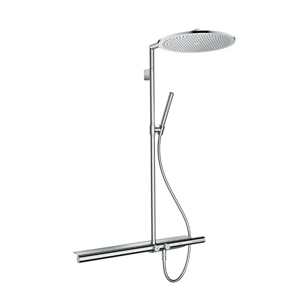 AXOR ShowerSolutions Showerpipe с термостатом 800 и верхним душем шлифованный никель  27984000