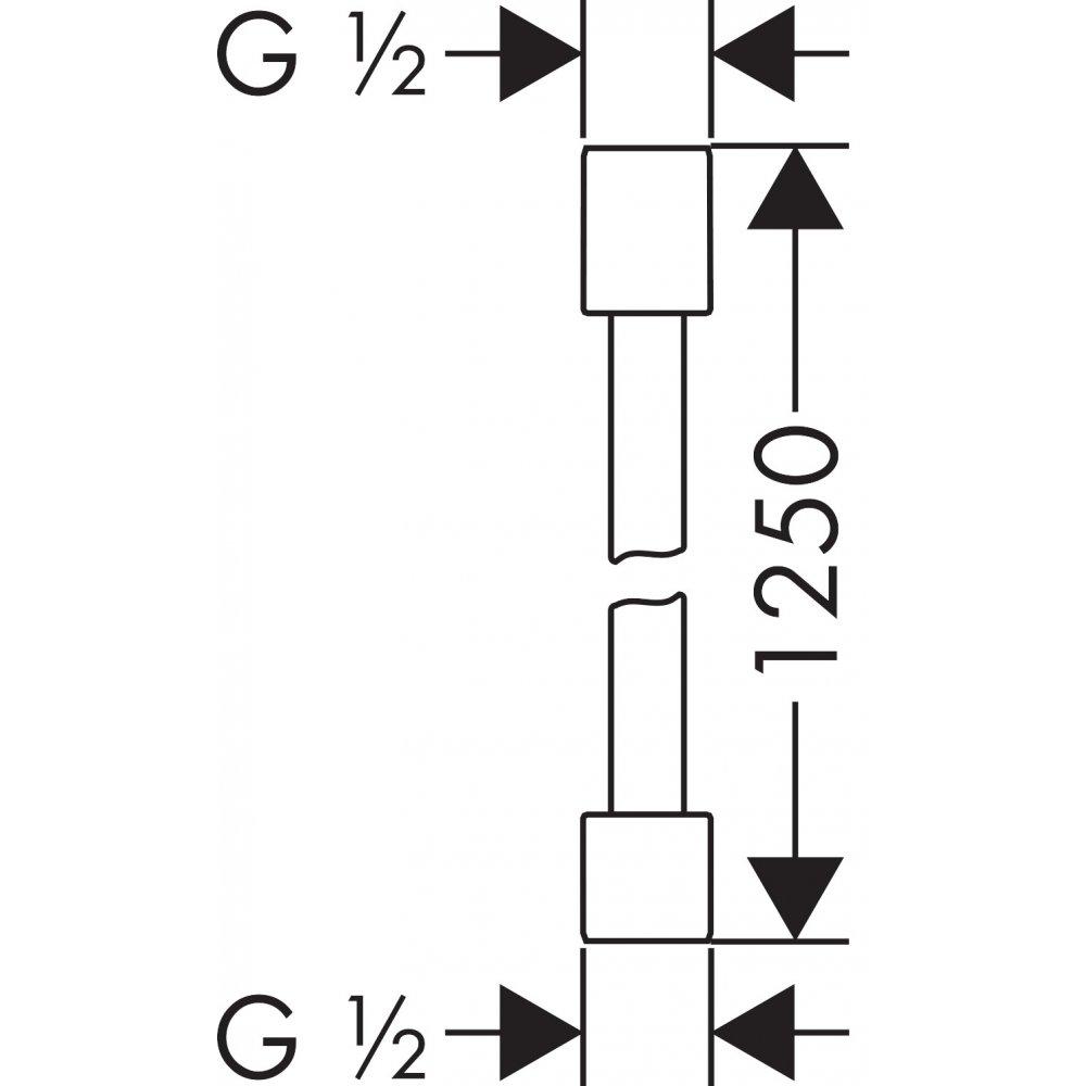 Шланг AXOR Starck с металлическим эффектом 2 м 1/2  x 1/2  хром  28282000