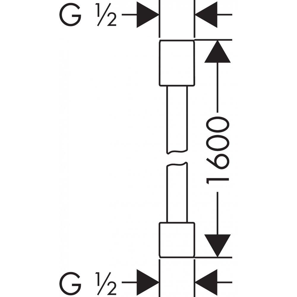 Шланговое подсоединение AXOR ShowerSolutions FixFit Softcube хром  28286000