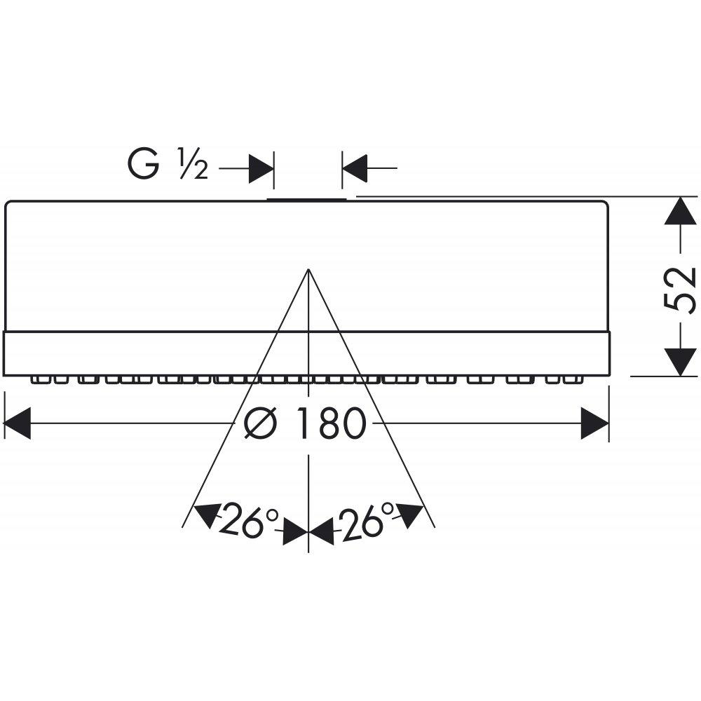 Верхний душ AXOR Citterio 180 1jet 1/2  хром  28489000