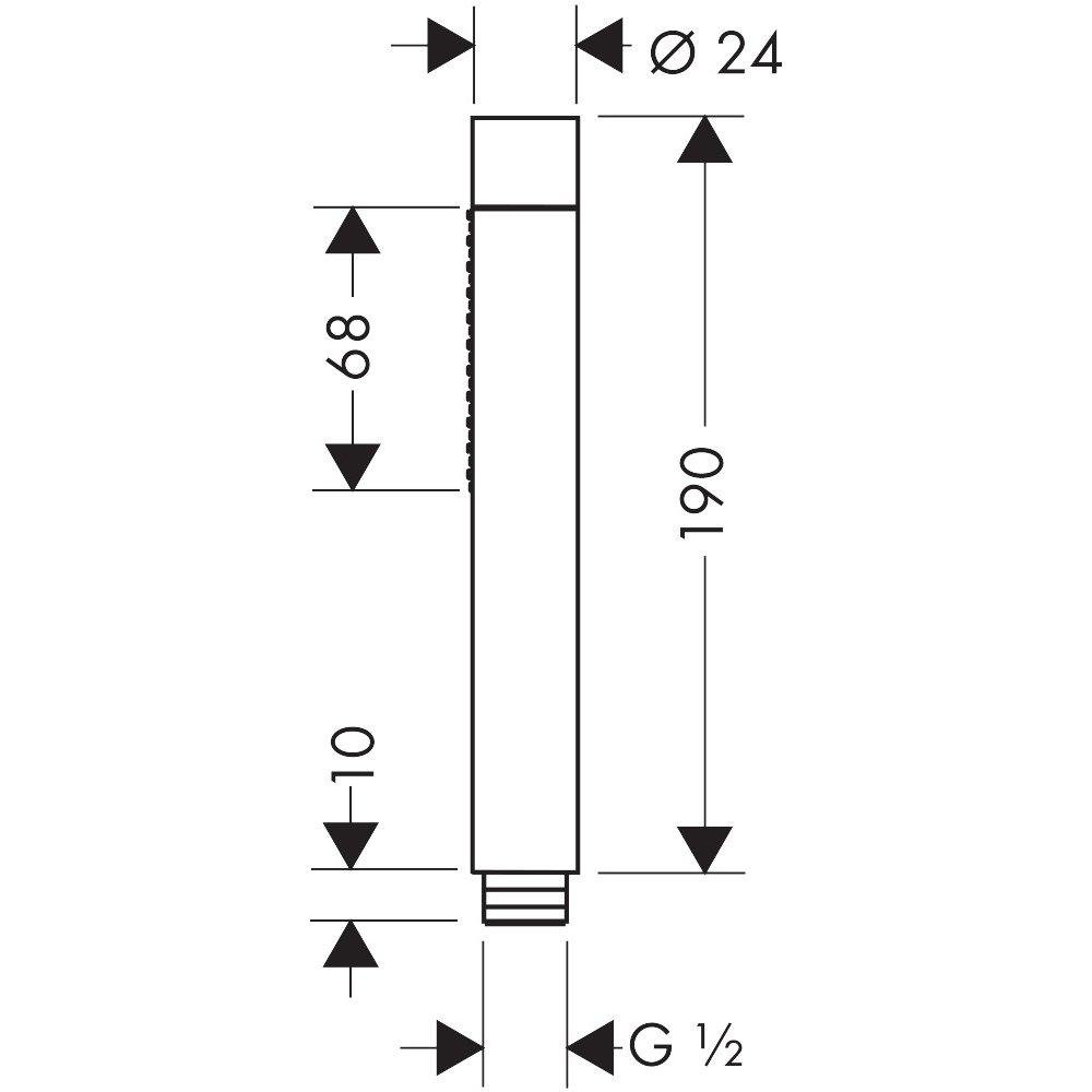Ручной душ AXOR Starck 2jet 1/2  хром  28532000