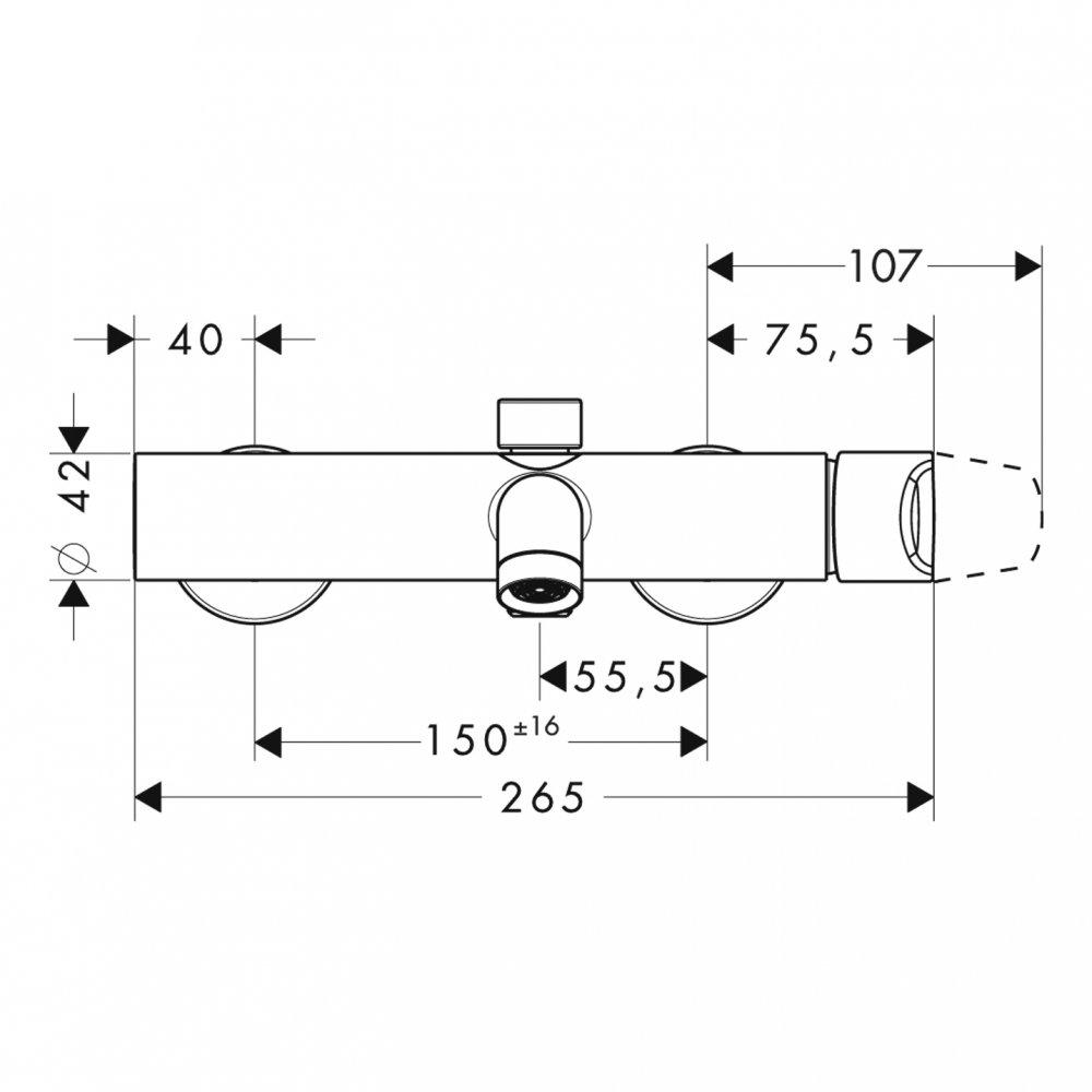 Смеситель для ванны AXOR Citterio M внешнего монтажа 1/2  хром  34420000