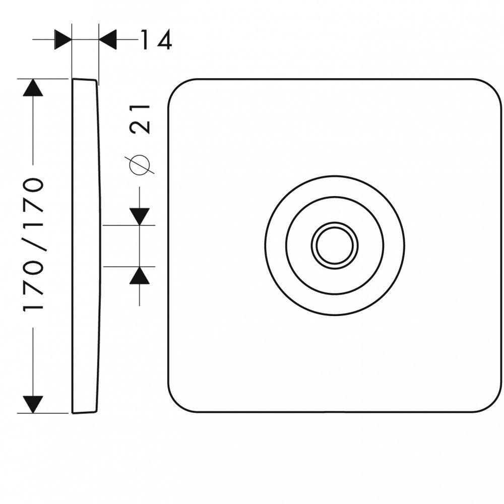 Настенная панель для верхнего душа AXOR Citterio M хром  34612000