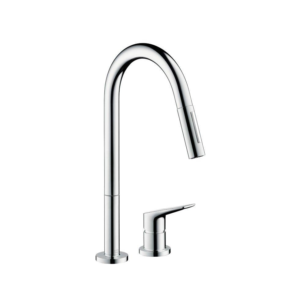 Смеситель для кухни AXOR Citterio M на 2 отверстия с выдвижным душем 1/2  хром  34822000