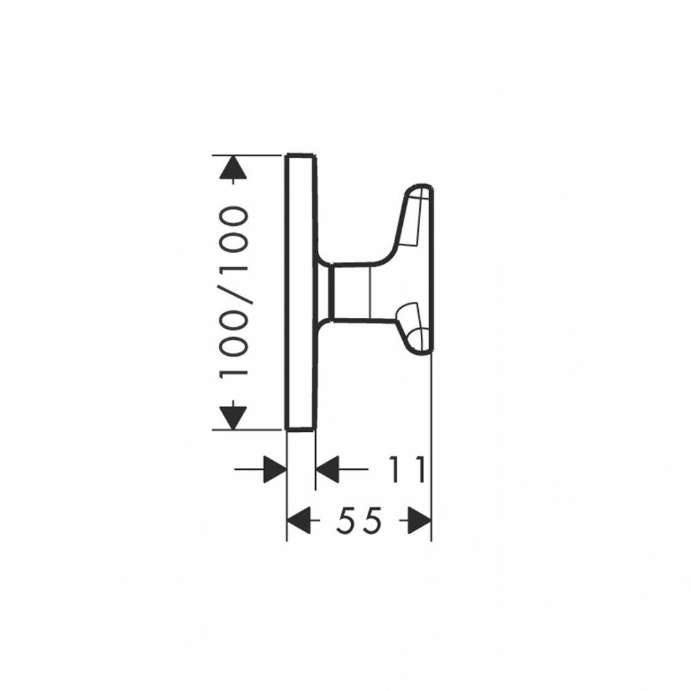 Запорный вентиль AXOR Citterio с рукояткой в форме звезды для скрытого монтажа 1/2  и 3/4  хром  34980000