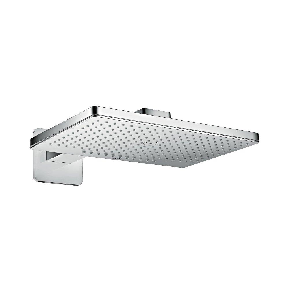 Верхний душ AXOR ShowerSolutions 460 х 360 2jet с душевым держателем и с розеткой со скругленными углами хром  35275000