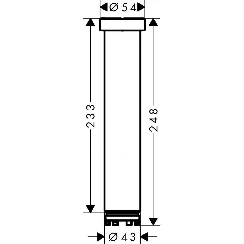 Удлинение скрытой части AXOR ShowerSolutions хром  35288000