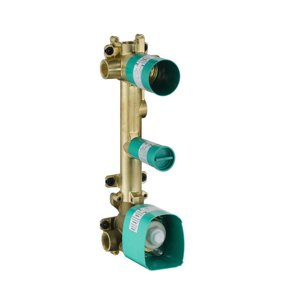 Скрытая часть AXOR Citterio E для термостата 380 мм x 120 мм c панелью для 2 потребителей  36701180