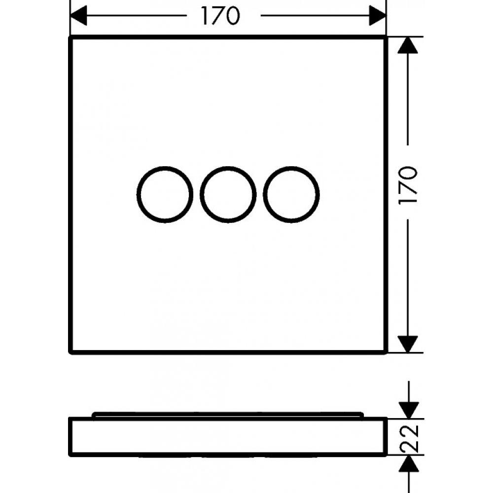 Модуль AXOR ShowerSelect с тремя запорными клапанами хром  36717000