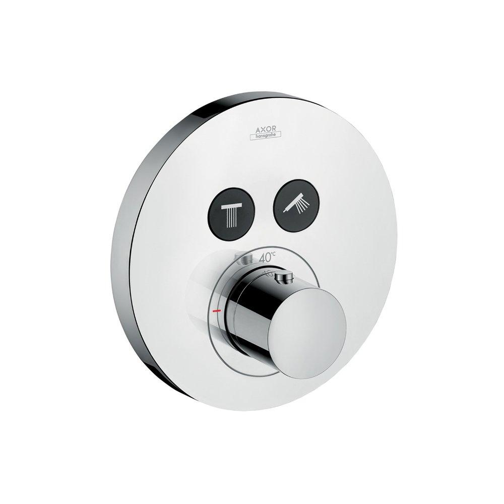 Термостат AXOR ShowerSelect Highflow на 2 потребителя с клапаном для ручного душа для скрытого монтажа скругленные углы хром 36723000