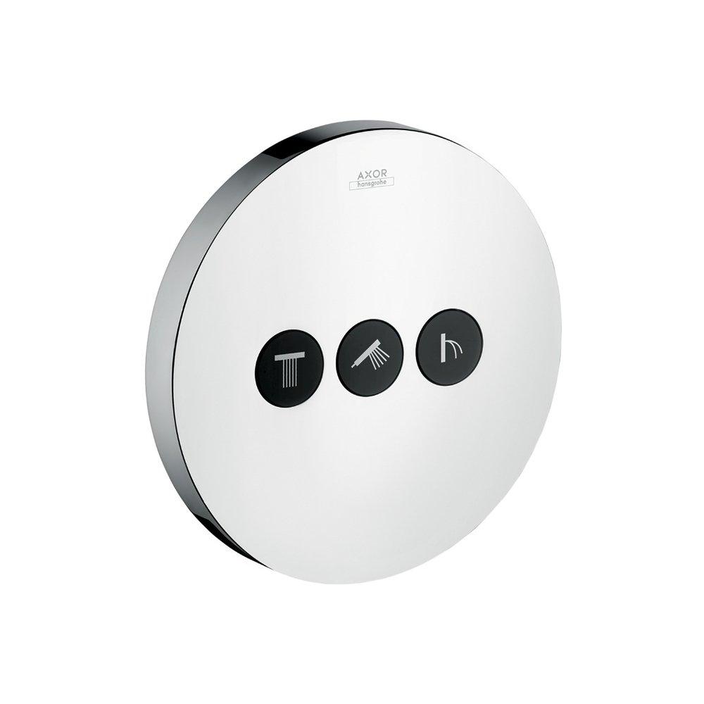 Запорный вентиль переключатель потоков AXOR ShowerSelect на 3 потребителя для скрытого монтажа шлифованный никель  36727820