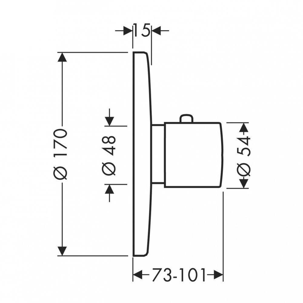 Термостат AXOR Starck для скрытого монтажа 43 литра в минуту хром  38375000