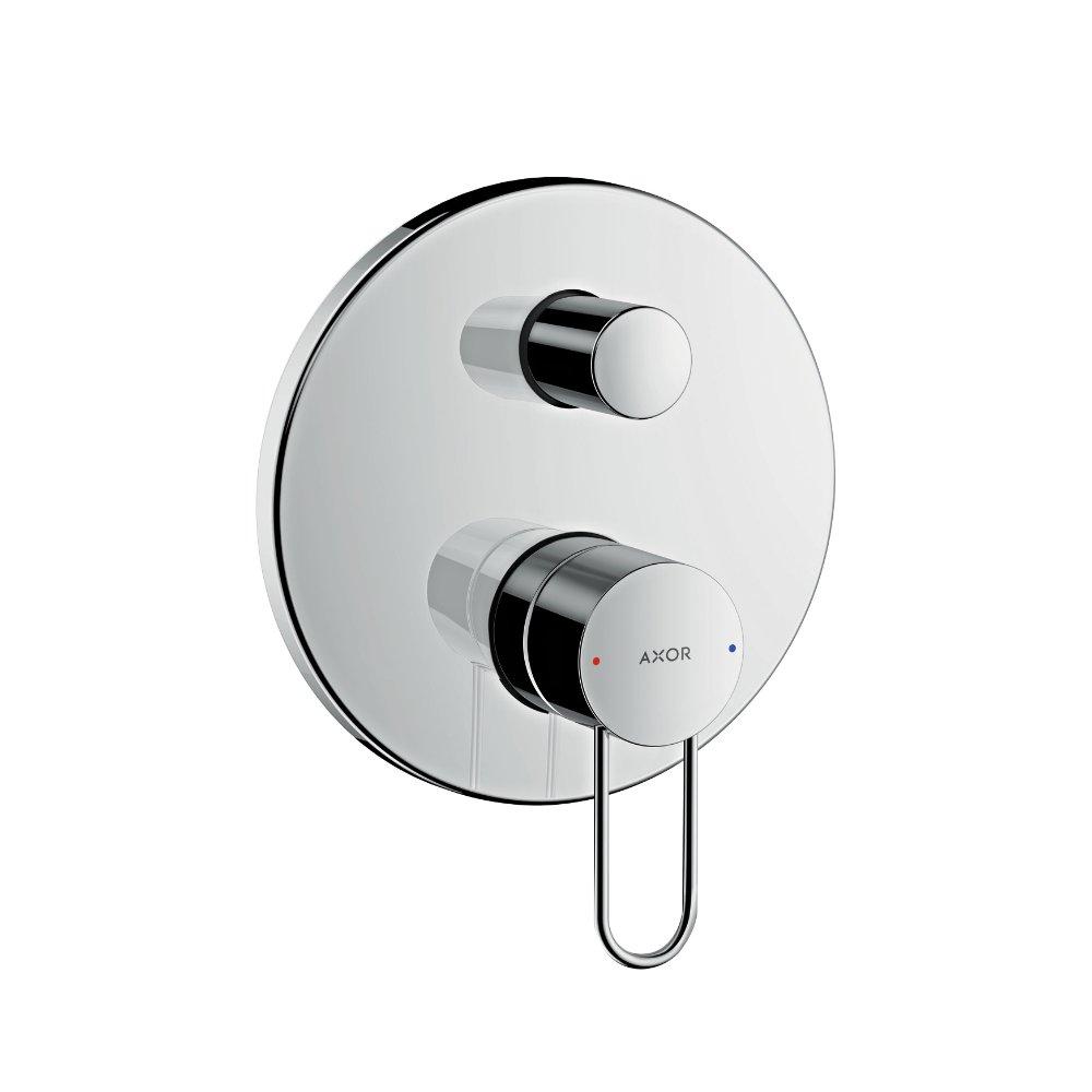 Смеситель для ванны AXOR Uno с рукояткой петлей со встроенной защитной комбинацией для скрытого монтажа хром  38428000