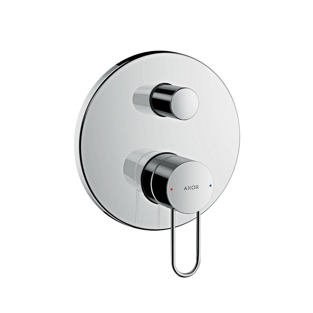 Смеситель для ванны AXOR Uno с рукояткой петлей со встроенной защитной комбинацией для скрытого монтажа шлифованный никель  38428820