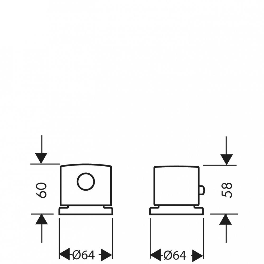 Термостат AXOR Citterio E на край ванны на 2 отверстия хром  38480000