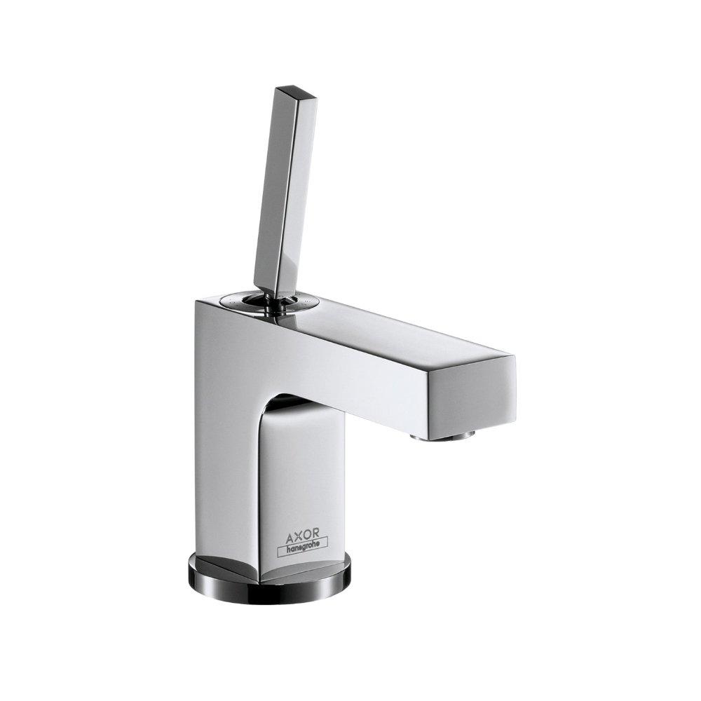 Смеситель для маленькой раковины AXOR Citterio с высотой излива 80 мм со сливным гарнитуром хром  39015000