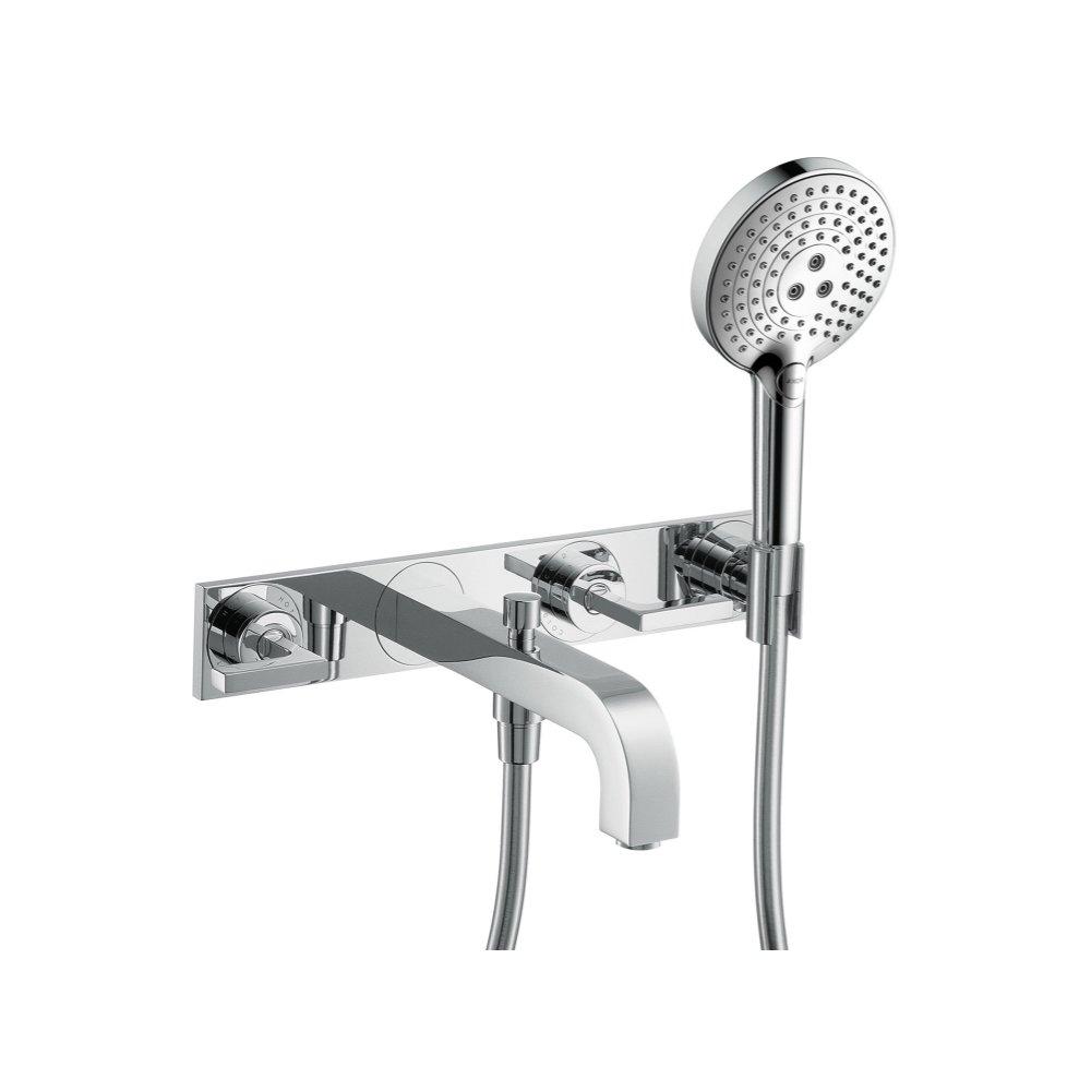 Смеситель для ванны AXOR Citterio на 3 отверстия с рычаговыми рукоятками и панелью 1/2  хром  39442000