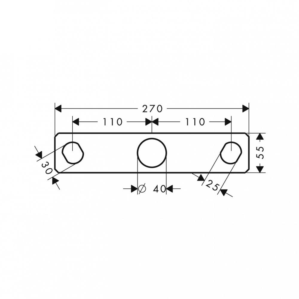 Монтажная панель AXOR Citterio хром  39449000