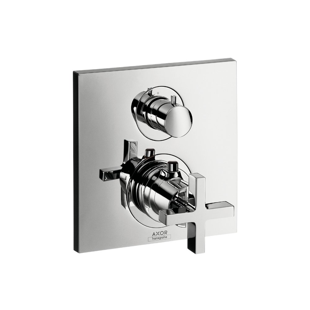 Термостат AXOR Montreux с запорным вентилем с рычаговой рукояткой для скрытого монтажа хром  39705000